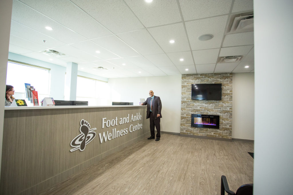 A view inside the Foot and Ankle Wellness Centre.