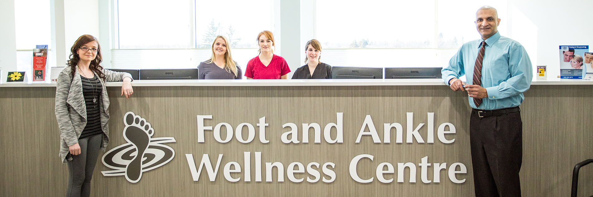 Group photo of the staff at the Foot and Ankle Wellness Centre