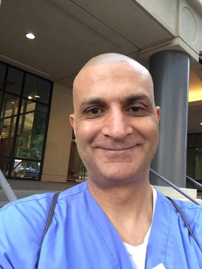 Portrait of Dr. Chaudhry Selfie